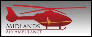 Midlands Air Ambulance logo shaded with border