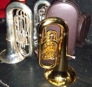 Jackfield brass band tubas