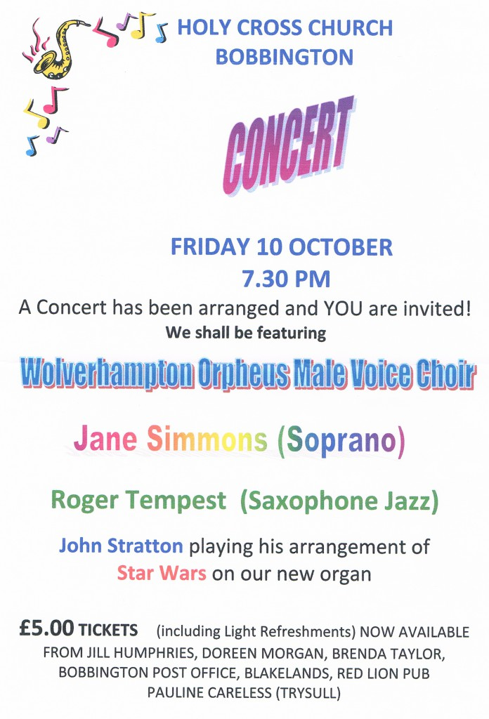 Bobbington Concert 10Oct2014