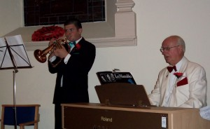 Graham accompanying Peter on Trumpet