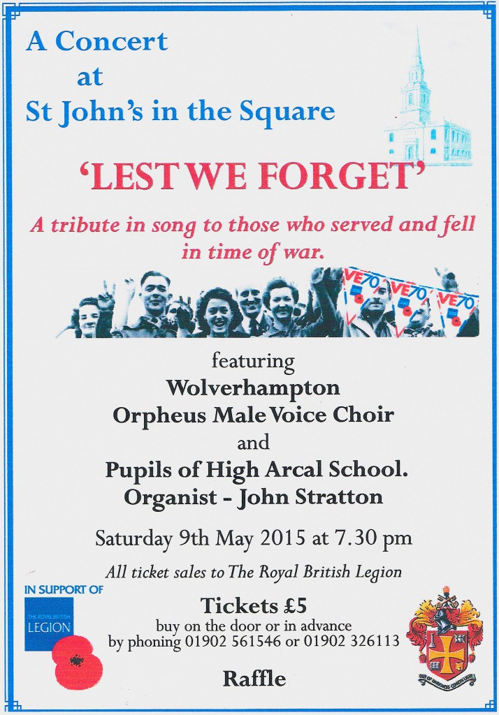RBL VE70 Remembrance Concert 9May2015