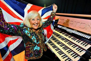 Jean Martyn with British flag