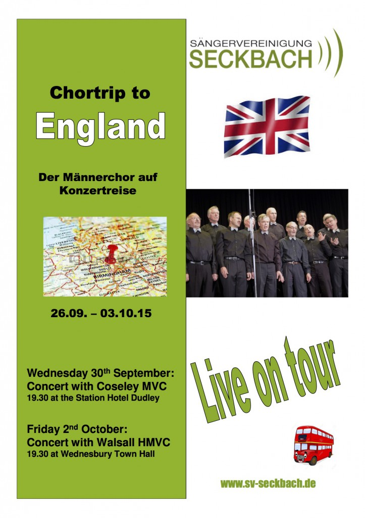 Poster - Seckbach Choir Trip To England 2015