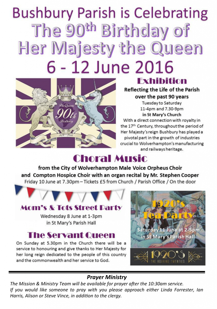 Bushbury Queen's 90th Compton Hospice Choir 10Jun2016